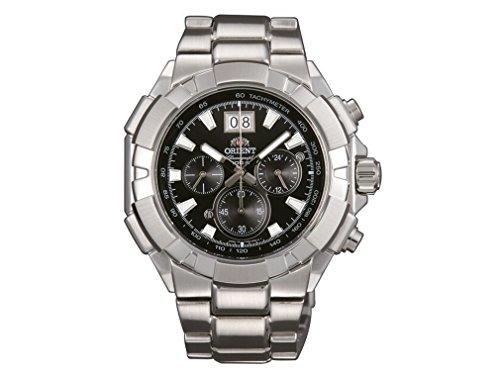 Orient Herren-Armbanduhr Chronograph Quarz Edelstahl FTV00003B0