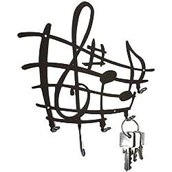 Pannello portachiavi - spartito, chiave musicale - ganci