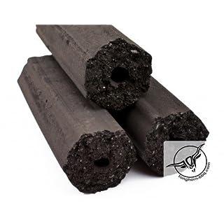 10 kg Longhorn-BBQ | Premium+ Kokos | Grill Kohle | Holzkohle Brikett