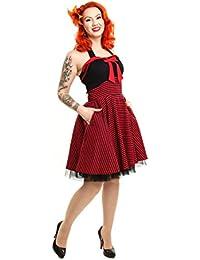 Wendy Dress Kleine Schwarze Rockabella Rockabilly Retro Minikleid Schwarz