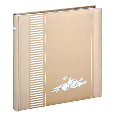 Hama Baby-Fotoalbum Kim (Album zum Einkleben, 50 weiße Seiten aus Fotokarton, für 250 Fotos im Bildformat 10 x 15 cm, Pergaminschutzseiten, Platz zur Selbstgestaltung) (250 Thema)