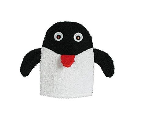 Baumwoll-haken (hibuy Pinguin Waschhandschuh Waschlappen für Kinder, Tiermotiv, aus Baumwolle mit Haken zum Aufhängen)