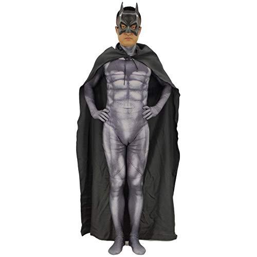 Kostüm Dc Frage - QQWE Batman Cosplay Kostüm DC Hero Kostüm Halloween Weihnachten Bodysuit Overalls Attire Themed Party Movie Requisiten,Adult-XL