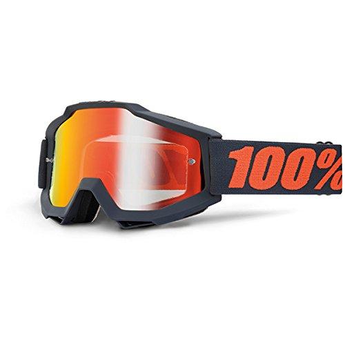100% Maschera Accuri Gunmetal - Lente a Specchio Rossa, Multicolore, Taglia U
