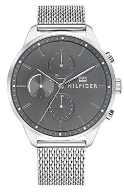 Tommy Hilfiger Reloj Multiesfera para Hombre de Cuarzo con Correa en Acero Inoxidable 1791484