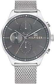 ساعة ستانلس ستيل للرجال بمينا رمادي من تومي هيلفيجر - 1791484