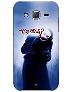 Samsung Galaxy J2 J200 Cases & Covers - Joker Why So Serious? Case by myPhoneMate - Designer Printed Hard Matte Case - Protects from Scratch and Bumps & Drops.