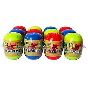 Zing S1246 Stikbot Dino Egg - Lote de 12 Botes de plastilina