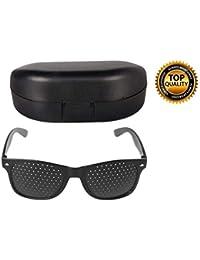 Digital Shoppy Men Women Vision Care Anti-myopia Pinhole Glasses Eye Exercise Eyesight Improve Glasses With Hard Case