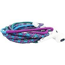 Crossloop Designer Series 3.5mm Universal In-Ear Headphones With Mic And Volume Control (Cerulean Blue, Purple & Green)