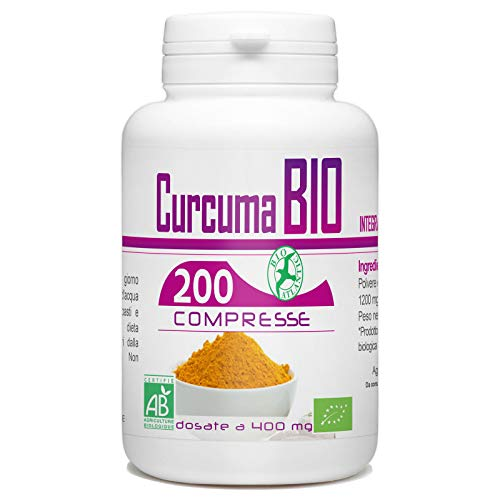 curcuma biologico - 400 mg - 200 compresse