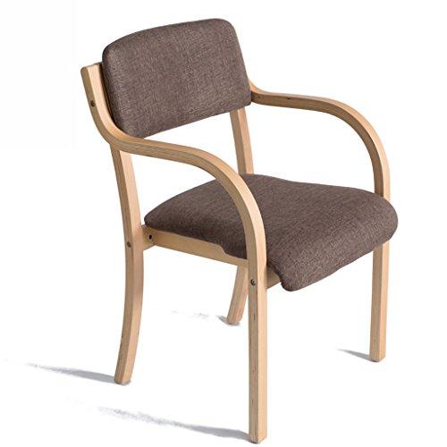 Esszimmer Stuhl Set 1/2/4, Moderne Lounge Bürostuhl, Breite Rückenlehne Aus Holz Und Beine, Stapelbar Lagerung (Farbe : Style4, größe : Set of 4) -