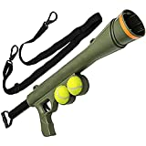 Pet Dog Ball Ting Bazooka Launcher Toy Strap spara Fino a 22,9 m, con 2 Palle