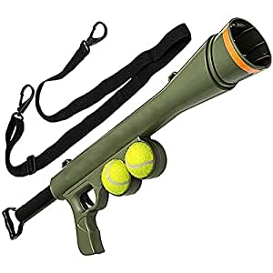 Pet Dog Ball Ting Bazooka Launcher Toy Strap spara Fino a 22,9m, con 2Palle