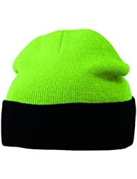 MB Teamwear Knitted Hat warm Winter Two Tone Beanie - 9 Colours