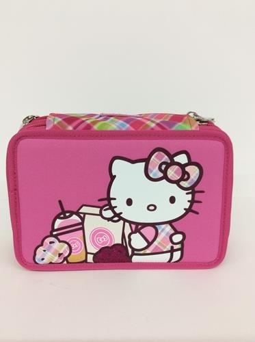 Hello kitty astuccio triplo completo rosa