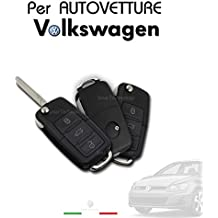 Carcasa de mando a distancia de 3 botones para Volkswagen Golf, Passat, Polo y Seat.