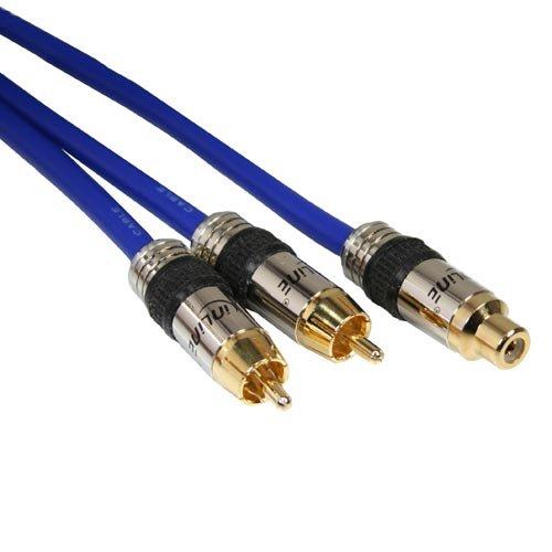Männlich 8-auf-cinch 1 (InLine 89927Q Premium Y-Kabel (1x Cinch Buchse auf 2x Cinch Stecker, 2m))