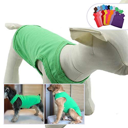 longlongpet 2019 Haustier-Kostüm, Welpen, Hundekleidung, Leere T-Shirts für große, mittelgroße und kleine Hunde, 100% Baumwolle, Klassische Haustierkleidung Welpen, Hundeweste, 18 ()