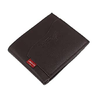 sourcingmap® Letters Pritn Faux Leather ID Window Flip Open Design Bifold Wallet for Man