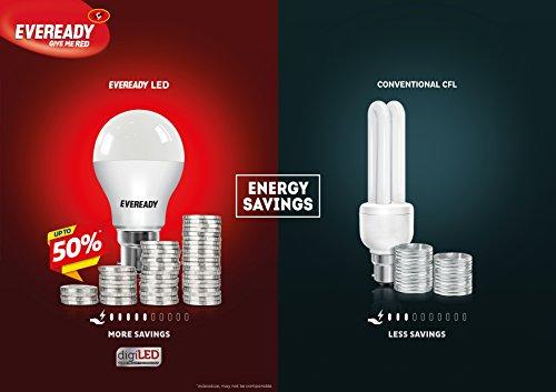 Eveready Base B22D 12-Watt LED Bulb (Cool Day Light) - SPL.COMBO Pack of 5 (Total 10 Bulbs)