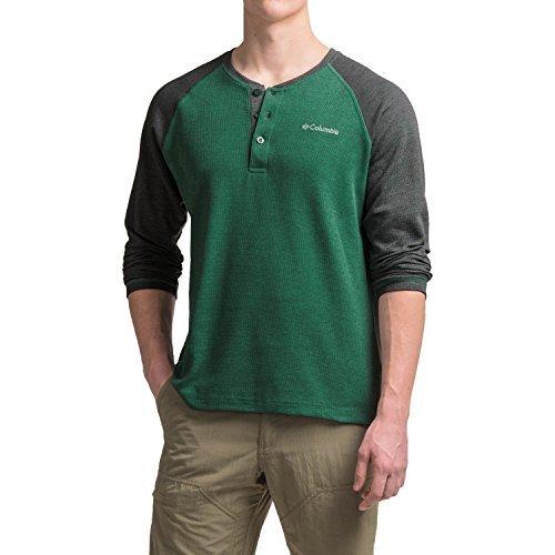 Columbia Thomas Meadows Henley Shirt (Large, Wildwood Green/Shark) (Columbia Henley)