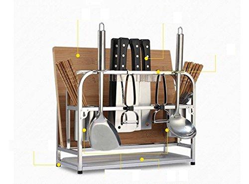 YZWJ DFHHG Edelstahl-Küche Regal Landing Ständer Rack Utensil Rack Chopper Würze Würze Turm Stark und langlebig (Chopper Koreanische)