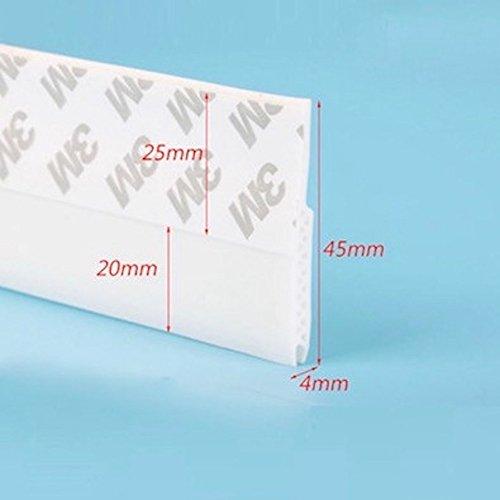 3BLUESKY Tür Draft Stopper untergrenze Akustik Dichtungen Selbstklebend Silikon 45x 1200mm 1–13/40,6cm X 3.94Füße Weiß (Draft Tür Stopper)