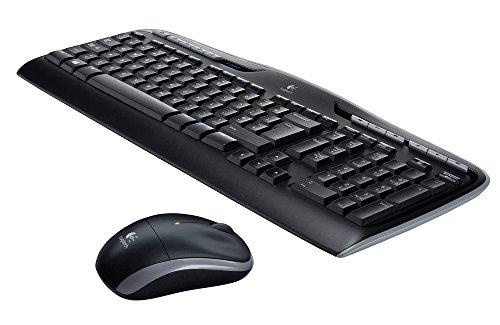 Logitech Wireless Combo MK330 schnurlose Tastatur und Computermaus (2,4GHz, USB, Qwertz deutsches Tastaturlayout) schwarz