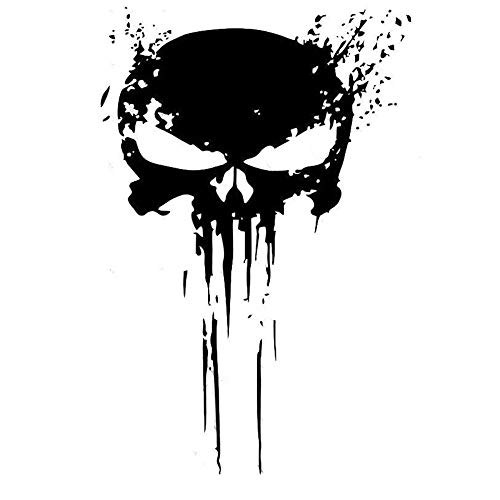Punisher Skull Blood Vinyl Car Stickers Calcomanías Motos Decoración