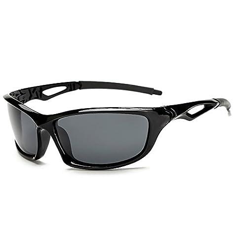 Pingenaneer Lunettes de soleil Homme / Lunettes de Sport Polarisées UV Protection pour Base-ball Fonctionnement Cyclisme Pêche Golf