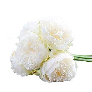 LianLe – Ramo de novia artificial hecho a mano de flores de peonía, flores decorativas, sin jarrón.