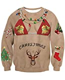 NEWISTAR Jungen Weihnachtpullover 3D Bikini Gedruckt Pullover Damen Weihnachten Jumper Tops Sweatshirts Bluse M
