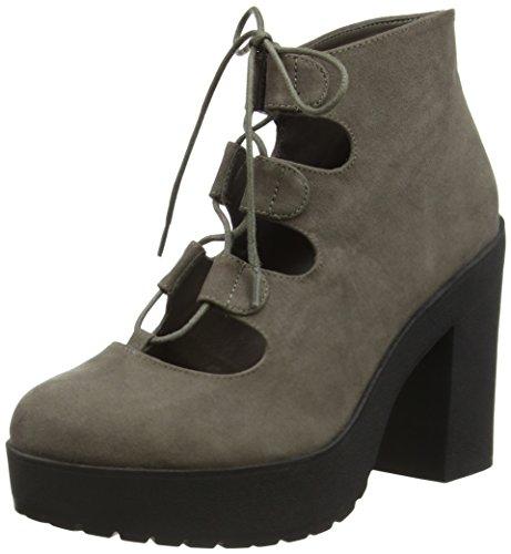 New Look Damen Stone Kurzschaft Stiefel Grey (04/Mid Grey)