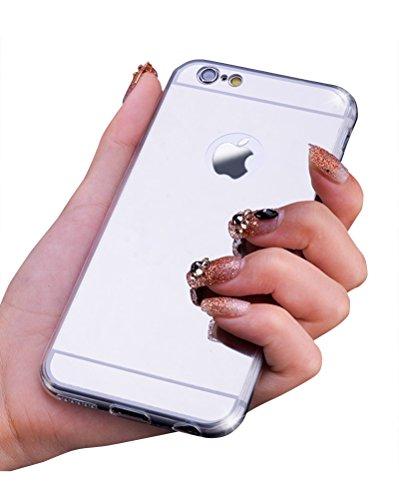 Ultra Dünn Anti-Scratch Leicht Hülle Bumper Cover Schutz Tasche Schale Soft Shell für iPhone Silber iphone 7Plus