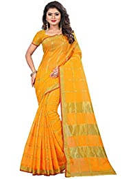 Nirja Creation Cotton Saree With Blouse Piece