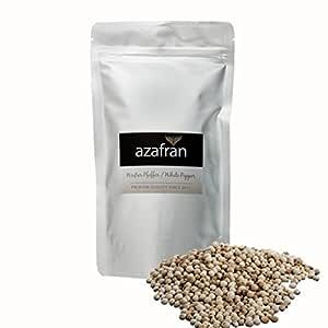 Azafran BIO Pfeffer (Pfefferkörner ganz) Pfeffermühlen geeignet weiß 250g