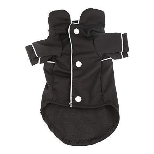 Jadeyuan Kostüm Pyjamas Welpen Haustiere Hunde Nachtwäsche Kleidung Hemd Overall Kostüm Mantel Frühling und Sommer tragen Bekleidung (Color : Schwarz, Size : X-Small) (Kostüm Tragen Overalls)