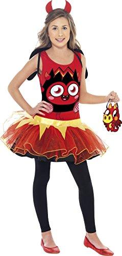 Smiffy's 35925L - Moshi Monsters Diavlo Kostüm mit Tutu-Kleid-Flügel-Stirnband und Tasche Preisvergleich