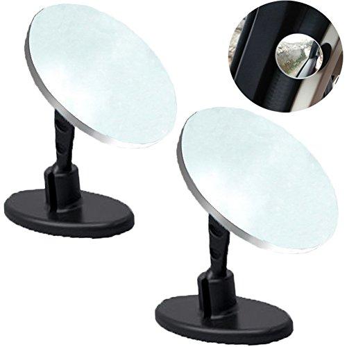 Preisvergleich Produktbild Da Jia Inc 2 Stück Zusatz Beifahrer Rückspiegel Convexer toter Winkel Spiegel, Rückspiegel mit verstellbarem Hals 360 ° Weitwinkel Baby Spiegel schwarz