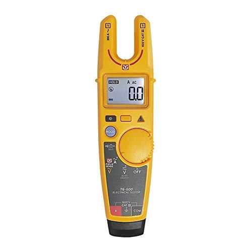 LLYY-Multimeter-1127 DRLLYY T6-600 T6-1000 Clamp Continuity Stromelektrotester berührungslose Spannungsklemme und Messgerät mit ursprünglichem Soft Case Checker (Color : Gelb, Size : 6-1000)