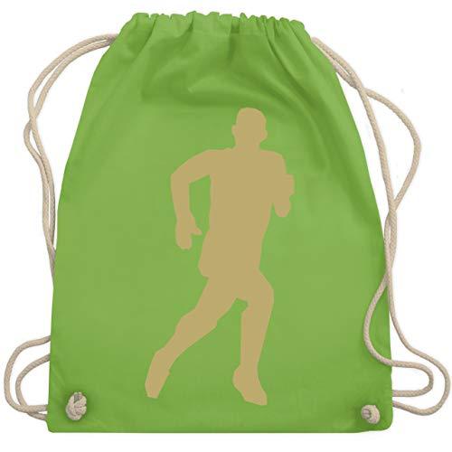 Shirtracer Laufsport - Laufen - Unisize - Hellgrün - WM110 - Turnbeutel und Stoffbeutel aus Bio-Baumwolle