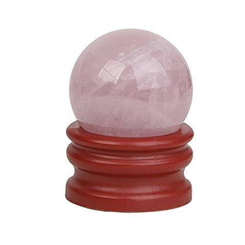 30mm Boule de Cristal Pierre Naturelle Sphère Balle Boule Verre Optique Transparent avec Support
