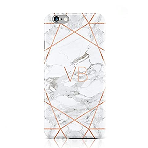 PERSONALISED ROSE GOLD & MARBLE INITIALS MOBILE PHONE CASE FOR APPLE IPHONE 6 6S