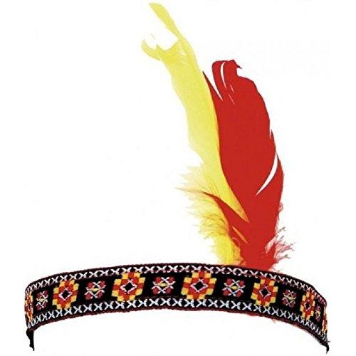 Accessorio per costume - travestimento - carnevale - halloween - fascia indiano - nativo americano - etnico - colore multicolore - unisex - bambini