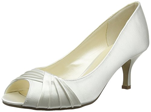Pink by Paradox of London Damen Romantic Peep-Toe, Off-White (elfenbeinfarben), 40 EU -