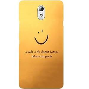 Casotec Smiley Quote Design Hard Back Case Cover for Lenovo Vibe P1M