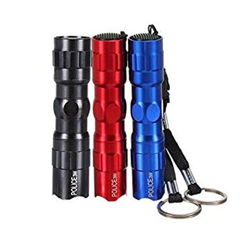 Naisicantar Linterna Mini Linterna de Bolsillo LED, compacta, Fácil de Utilizar, Perfecto para Camping-Viaje-Pesca-ER, 3pcs