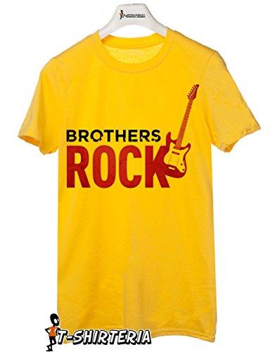 t-shirt Fratello e sorella humor  brother rock - maglietta by tshirteria giallo