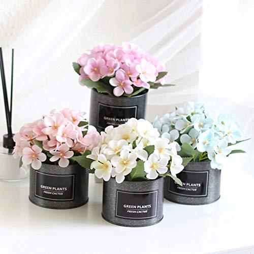 6SlonHy Topf lebensechte künstliche Begonie Blume Eisentopf Bonsai Home Garden Party DIY Dekor